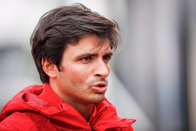 SAINZ Carlos (spa), Scuderia Ferrari SF21, portrait during the Formula 1 Heineken Dutch Grand Prix 2021, 13th round of the 2021 FIA Formula One World Championship from September 3 to 5, 2021 on the Circuit Zandvoort, in Zandvoort, Netherlands - Photo Anto