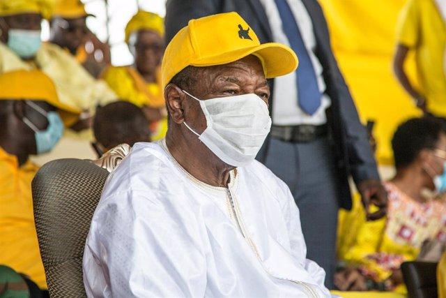 Alpha Condé, presidente de Guinea