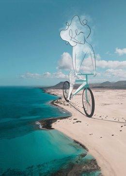 Foto del artista sibotk intervenida por el ilustrador Víctor Torres