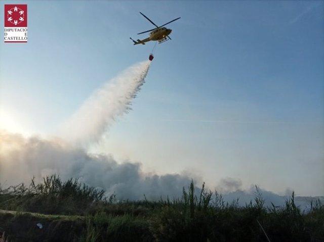 Incendio en Almenara