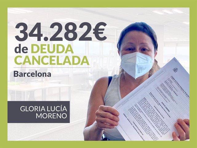 Gloria Lucía Moreno, exonerada con Repara Tu Deuda