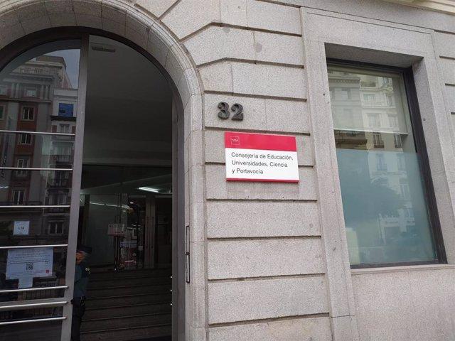 Consejería de Educación, Universidades, Ciencia y Portavocía de la Comunidad de Madrid.
