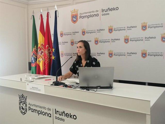 La concejala delegada de Servicios Generales del Ayuntamiento de Pamplona, María Echávarri