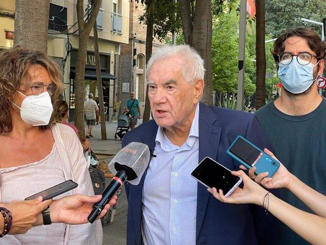 Els regidors d'ERC a Barcelona Montserrat Benedí, Ernest Maragall i Max Zañartu