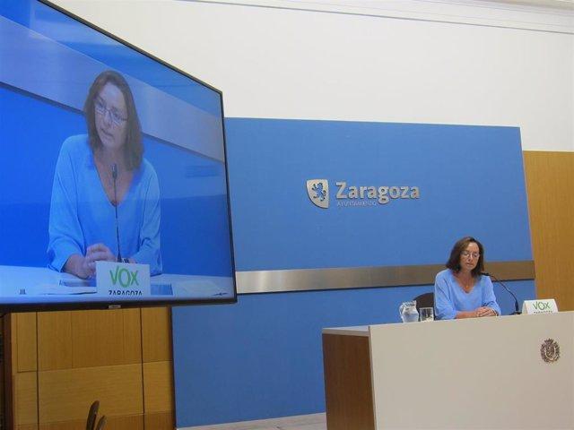 La concejal de VOX en el Ayuntamiento de Zaragoza, Carmen Rouco