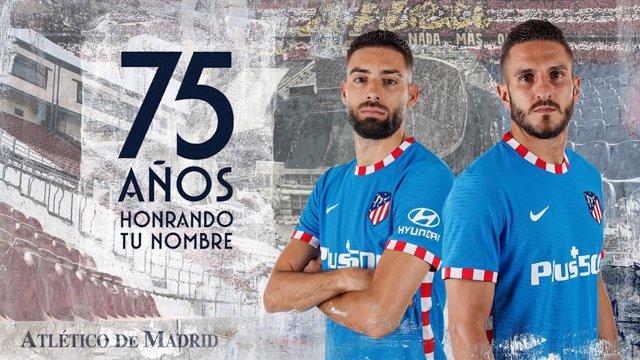 El Atlético y Nike homenajean al Calderón en su tercera equipación para esta temporada.
