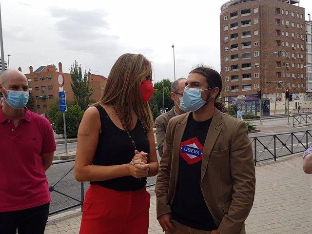 Mar Espinar, nueva portavoz del PSOE en el Ayuntamiento de Madrid, y el concejal de Usera Álvaro Vidal