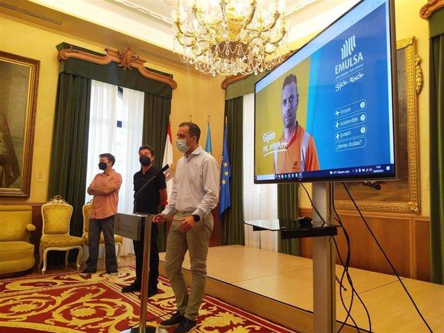 Preentación de la campaña online de concienciación ciudadana #gijonmeimporta, de Emulsa (Gijón)