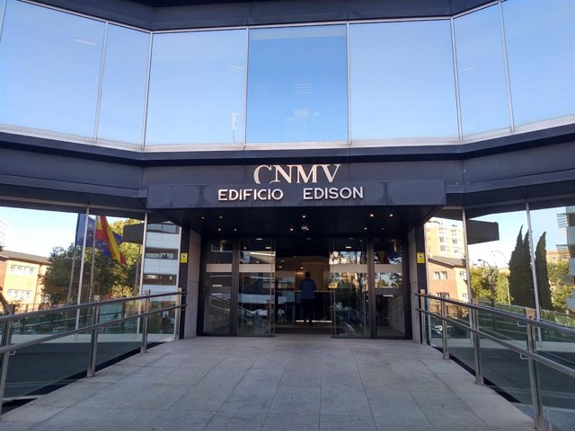 Archivo - Edificio sede de la Comisión Nacional del Mercado de Valores (CNMV) en Madrid
