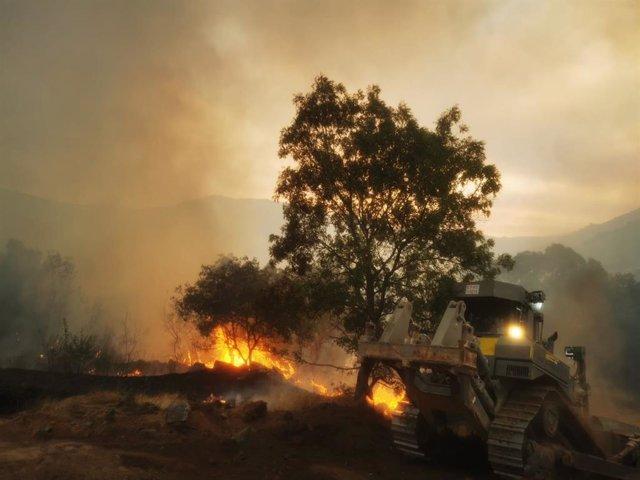 Incendio en Navalacruz