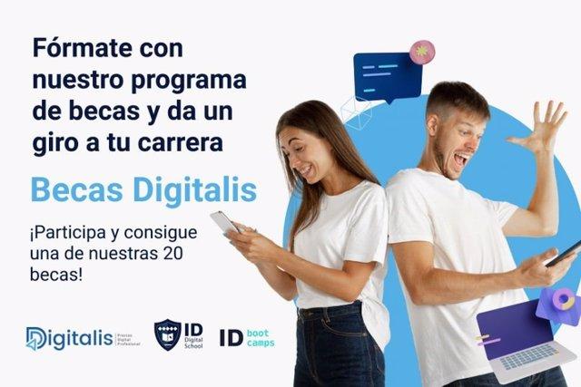 ID Digital School y Digitalis ofrecen 20 becas