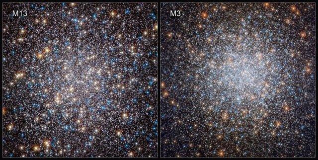 Visión De Hubble De M13 (2010) Y M3 (2019).