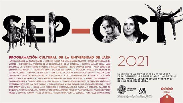 Cartel de la programación cultural de la UJA.
