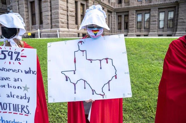 Protesta contra la nueva ley del aboto en Texas