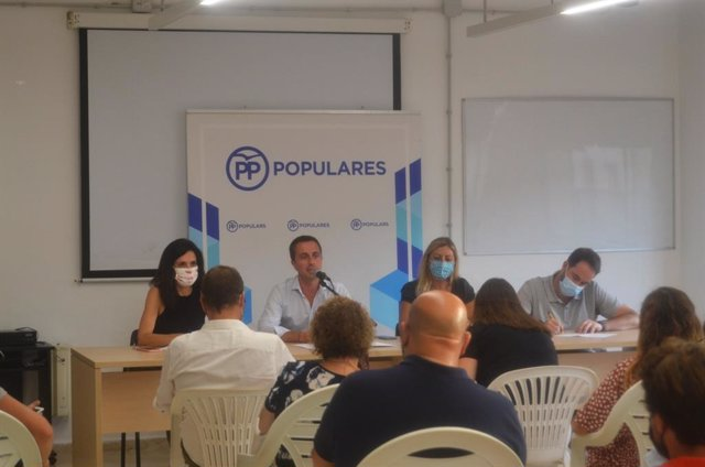 Reunión de la junta insular del PP de Mallorca.