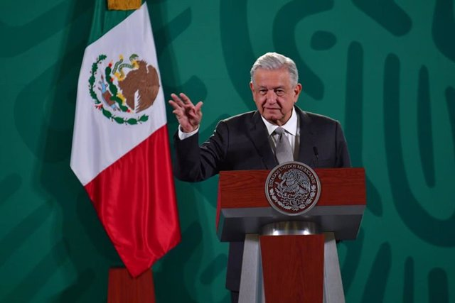 19 August 2021, Mexico, Mexico City: Mexican President Andres Manuel Lopez Obrador speaks during a morning press conference at the National Palace. Photo: -/El Universal via ZUMA Press Wire/dpa