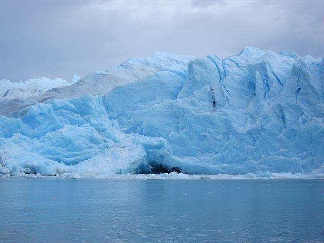 Archivo - Un glaciar en la Patagonia