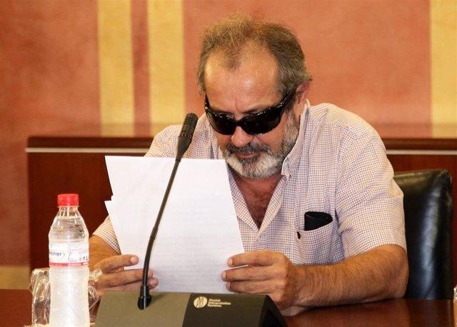 Archivo - El exsindicalista Juan Lanzas declara en la comisión de los ERE