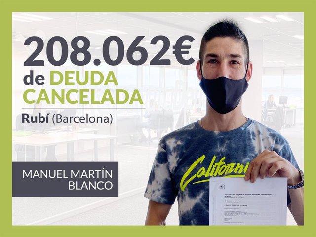 Manuel Martín, exonerado con Repara Tu Deuda