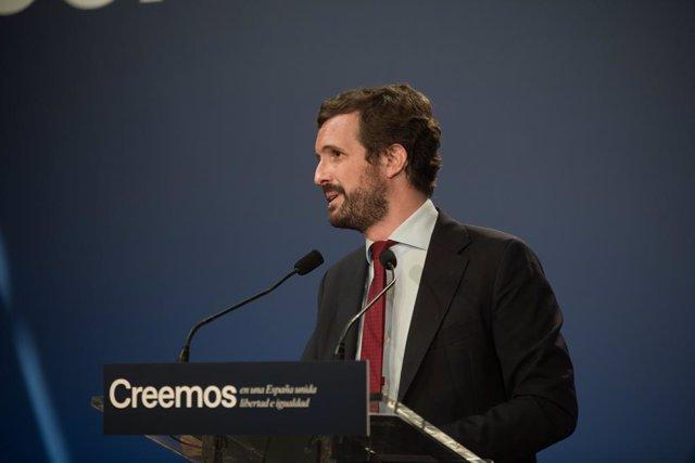 Arxiu - El president del PP, Pablo Casado