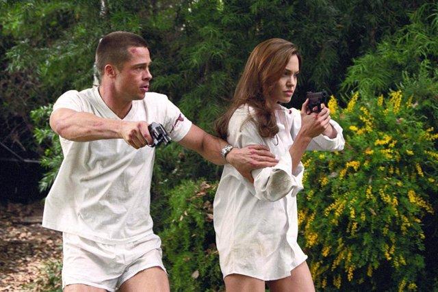 Brad Pitt y Angelina Jolie en Sr. Y Sra. Smith