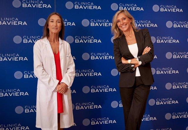 La doctora Marta Figueroa, directora de la Unidad de Retina de Clínica Baviera, y la periodista Marta Robles.