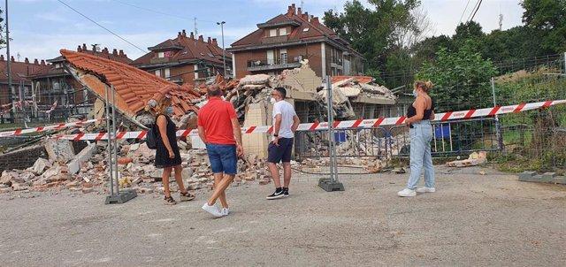 Derrumbe edificio municipal de Sarón