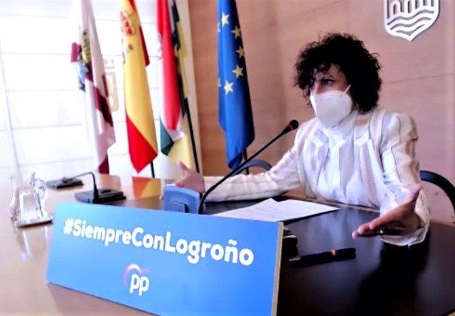 Archivo - La concejala del PP en Logroño Celia Sanz