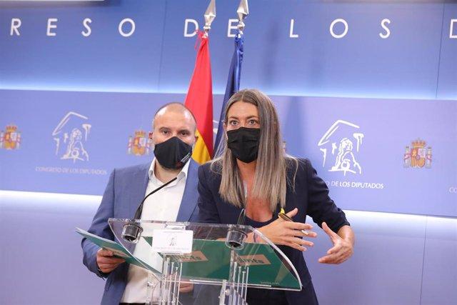 La portavoz parlamentaria de Junts per Catalunya, Miriam Nogueras