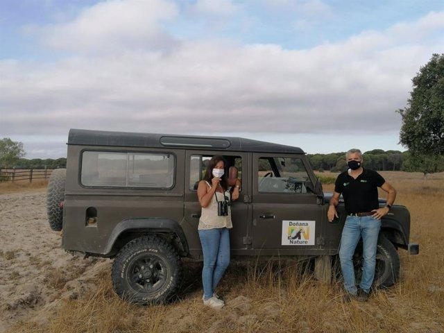 La delegada de Turismo de la Junta en Huelva, en su visita a la zona norte de Doñana.
