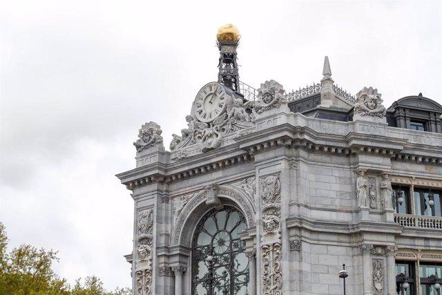 Archivo - Fachada del Banco de España.