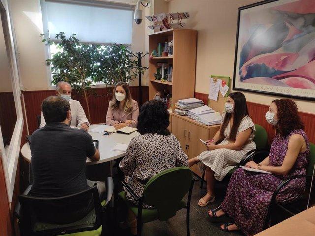 Reunión con profesionales del SAVA en Jaén.