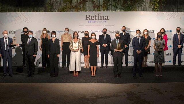 Entrega de los ganadores de los Premios Retina ECO de EL PAÍS y Capgemini, presidido por  la reina Letizia