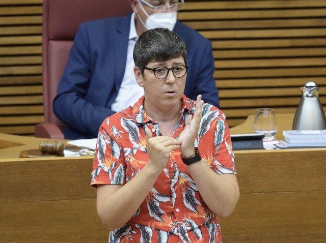 La secretaria general de Podem y portavoz de esta formación en Les Corts Valencianes, Pilar Lima, en una imagen reciente.