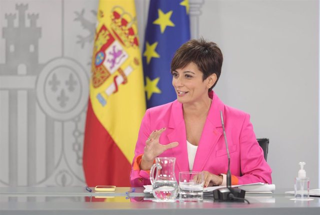 La ministra Portavoz, Isabel Rodríguez, comparece tras la reunión del Consejo de Ministros, a 7 de septiembre de 2021, en Madrid (España).