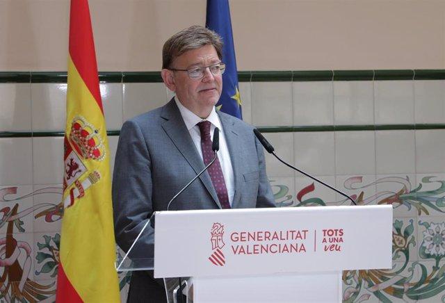 Archivo - El presidente de la Generalitat, Ximo Puig,