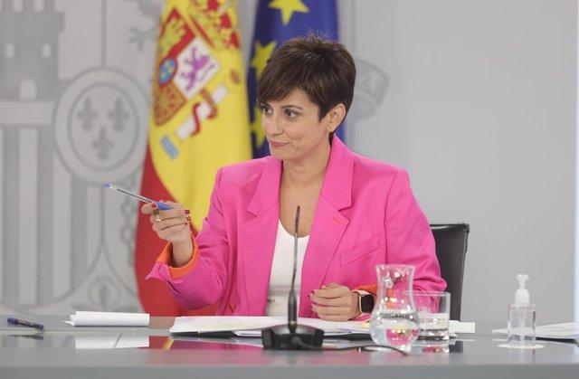 La ministra portaveu, Isabel Rodríguez, compareix després de la reunió del Consell de Ministres