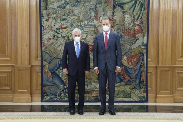El Rey Felipe VI recibe al presidente de Chile, Sebastián Piñera