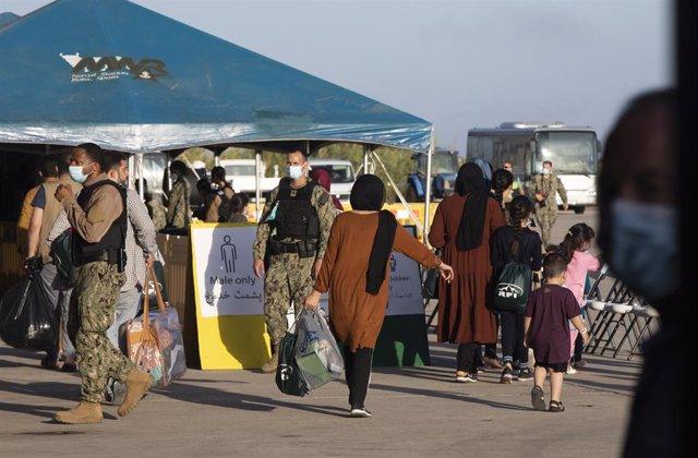 Dispositivo de atención a los evacuados de procedentes de Afganistán por parte de EEUU en el marco de la operación ' Allies Refuge', en la Base Naval de Rota. A 31 de agosto de 2021, en Rota (Cádiz, Andalucía, España).