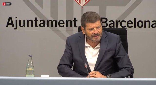 El teniente de alcalde de Seguridad de Barcelona, Albert Batlle