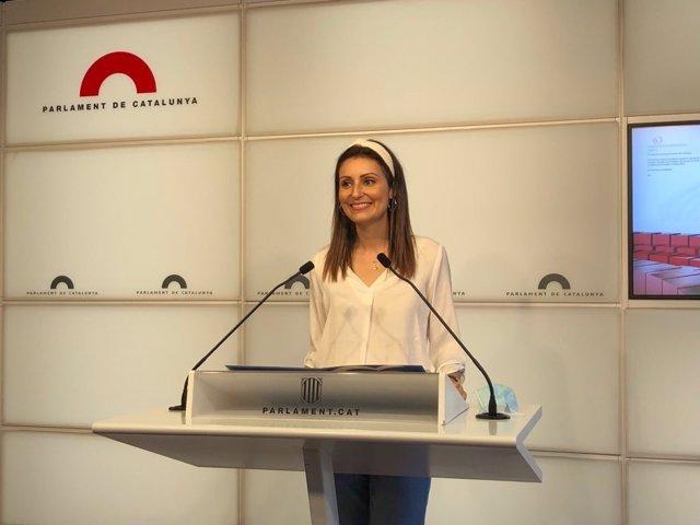 Archivo - Arxiu - La diputada del PP al Parlament Lorena Roldán