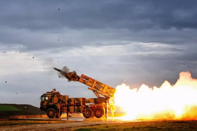 Archivo - Baterlía de misiles turca en Siria