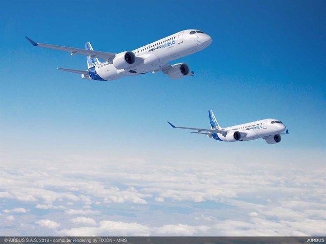 Archivo - Aviones Airbus.