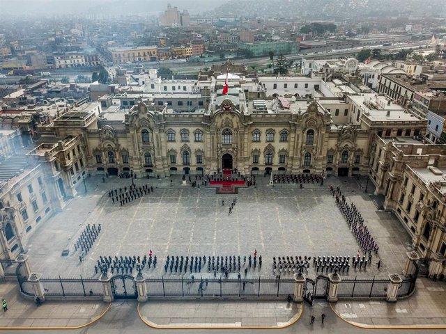 Archivo - Palacio de Gobierno de Perú.