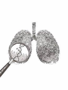 Investigación sobre el cáncer de pulmón.