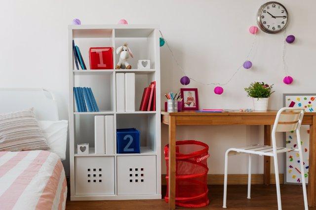 Zona de estudio infantil, cada cosa en su lugar