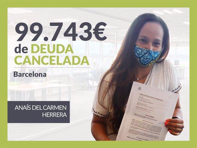 Anaís del Carmen Herrera, exonerado con Repara Tu Deuda .