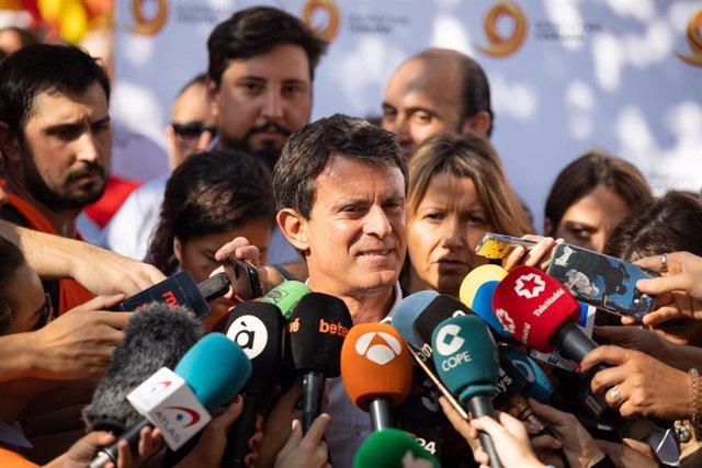 Archivo - Arxiu - El regidor de l'Ajuntament de Barcelona i ex-primer ministre francès, Manuel Valls