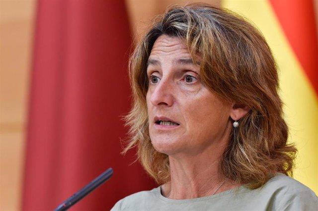 La vicepresidenta tercera y ministra de Transición Ecológica y Reto Demográfico, Teresa Ribera.