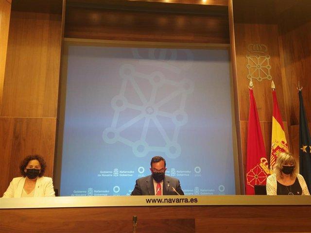 Rueda de prensa tras la sesión de Gobierno.